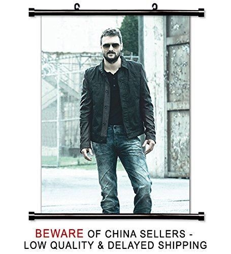 Eric Church Country Music Star Fabric Wall Scroll Poster (32 x 44) Inches