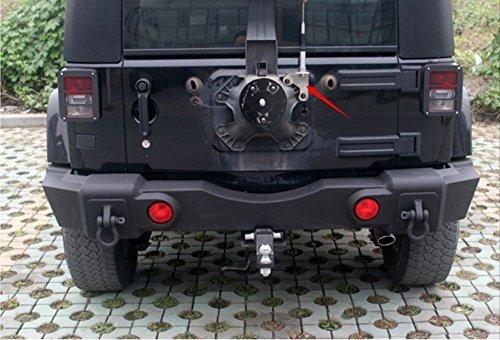 Amooca Jeep Spare Tire CB Antenna Mount For 2007 & Up Jeep Wrangler Unlimited Rubicon LIBERTY Sahara Jk 2/4 Door 2007-2016