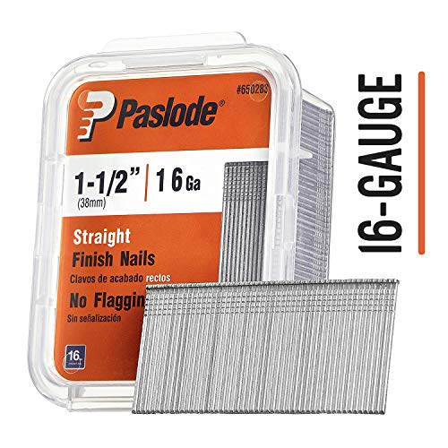 Paslode - 650283 1 1/2-Inch by 16 Gauge Galvanized Straight Finish Nail for Finish Nailers (2,000 Per Box) (Paslode Replacement Parts)