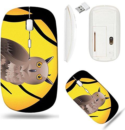 Liili Wireless Mouse White Base Travel 2.4G Wireless