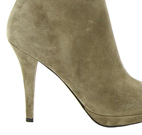 LONGHI Women's 292621HBEIGEO Beige Suede Boots RO3JXz