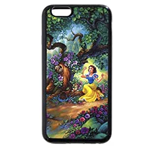"""Onelee Customized Black Soft Rubber(TPU) Disney Cartoon Snow White iPhone 4.7 Case, Only fit iPhone 6 4.7"""" by mcsharks"""
