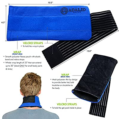 """Pain Relief Ice Pack with Wrap for Hot & Cold Therapy - New & Improved Flexible Gel Pack to Treat Sports Injuries & Aches : Microwavable + Reusable (Medium-Sized Wrap, 23"""" - Ideal for Small Body Parts or Limbs Only)"""