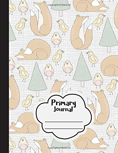 Download Primary Journal: Dotted Midline and Picture Space  Grades K-2 School Exercise Notebook - 100 Story Pages  Woodland Foxes (Forest Animals Series) PDF