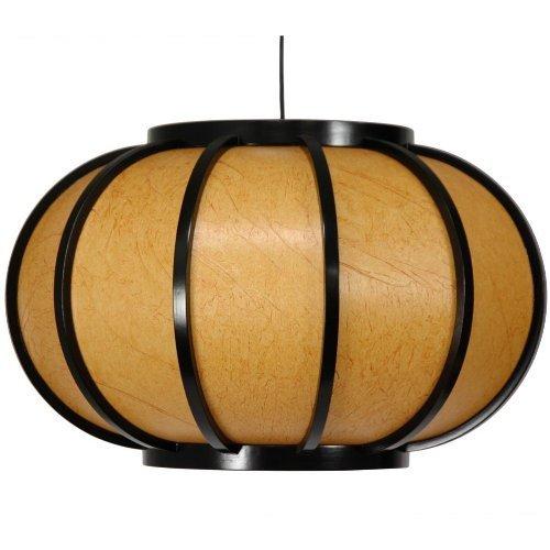 Oriental Furniture Harajuku Hanging Lantern - Black by Oriental Furniture