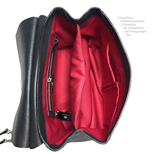 Borsa in Pelle, Made in Italy, Business, Laptop, nero con fodera rosso in qualita buonissimo
