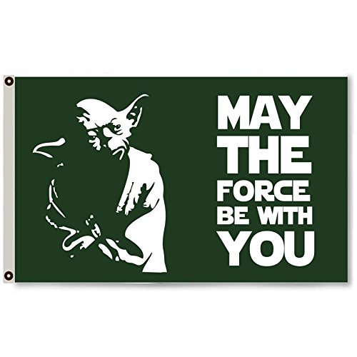 (2But May The Force be with You Star Wars Flag Banner 3X5FT)