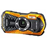 "Ricoh 16 Waterproof Still/Video Camera Digital with 2.7"" LCD, Orange (WG-50 orange)"