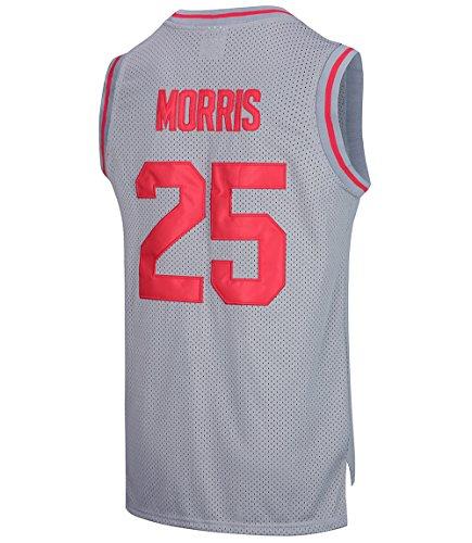 RAAVIN Athletic Zack Morris #25 Bayside Tigers Men's Basketball Jerseys Size S-XXXL (Grey, X-Large)
