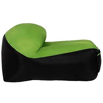 Witspace - Sofá/cama/barco hinchable rápido, sofá de aire libre, sacos de dormir, cama, camping, Air Sofa, Verde: Amazon.es: Deportes y aire libre