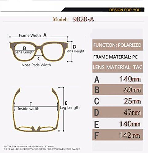 Hombre Aviator para C5 C2 Mujer Polarizadas Protección para De UV Gafas Sol 400 qaAx6w0