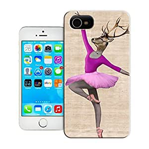 Unique Phone Case Ballerina Deer Pink Hard Cover for iPhone 4/4s cases-buythecase