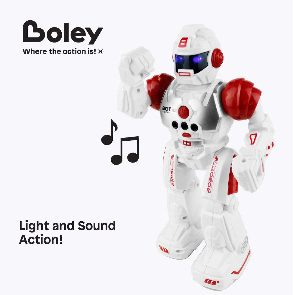 Boley Bot Strong Remote Controlled Robot Toy Gesture Control - Dancing, Singing, Walking Talking Robot Friend Kids - Red by Boley (Image #6)