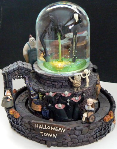 nightmare before christmas musical snow globe