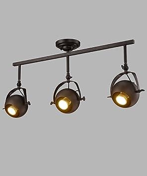 CHAOXIANshedneg Incrustado Foco LED Lámpara De Techo Iluminación Retro De La Pista Apliques de Pared (Color : Negro, Tamaño : D): Amazon.es: Hogar