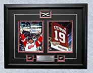 Steve Yzerman Detroit Red Wings 2002 Stanley Cup Signed & Game Used Net 27x21 Frame
