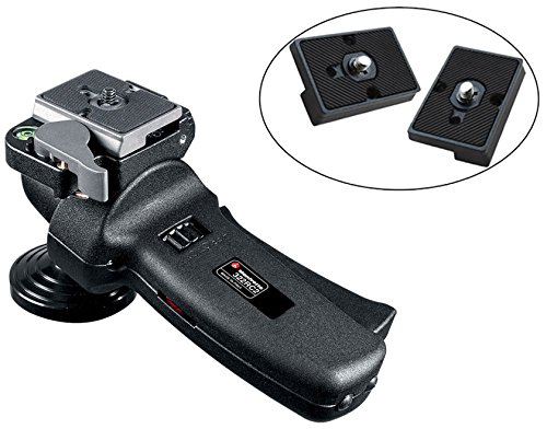 Manfrotto 322RC2 Grip Action Joystick Head with Two Replacement Quick Release Plates for the RC2 Rapid Connect Adapter