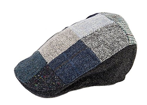 742b7e8da402d Hanna Hats Men s Donegal Tweed Touring Cap - Grey Patch XL