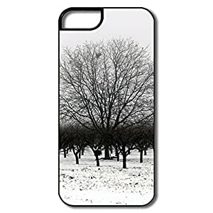 Winter Black White Hard Ideal Case For IPhone 5/5s