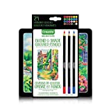 Crayola Signature Series Blend & Shade Coloured Pencils, 24 Ct, Professional Colouring Kit, , Adult Colouring, Bullet Journaling, School and Craft Supplies, Drawing Gift for Boys and Girls, Kids, Teens Ages  5, 6,7, 8 and Up, Holiday Gifting, Stocking Stuffers, Arts and Crafts