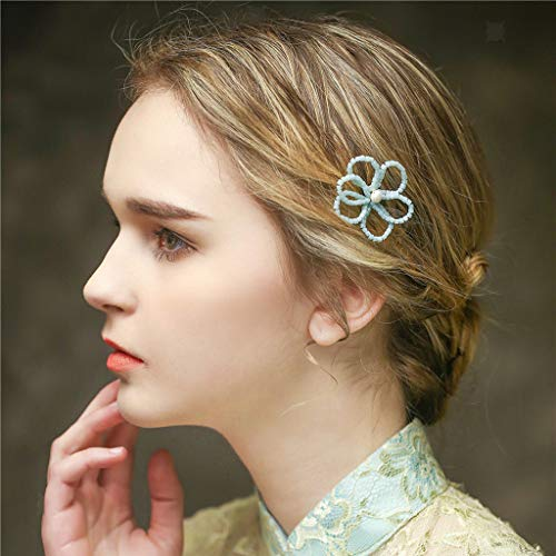 Price comparison product image Sweet Rhinestone Pearl Hair Pin Clips Charming Bridal Hairwear Accessory