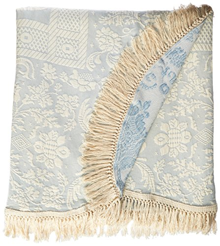 Queen Elizabeth Matelasse Bedspread - Full - French Blue