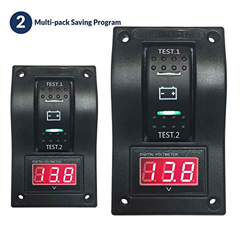 Five Oceans Voltmeter Dual Battery Test Switch Panel, Pair FO-3852-M2