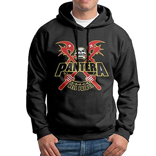 KPaIil Pantera Hell Patrol Pullover Hooded Adult Black Sweatshirt Hoodie