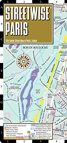 Streetwise Paris Map - Laminated City Center Street Map of Paris, France (Michelin Streetwise Maps)