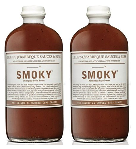 Lillie's Q Barbeque Sauce- SMOKY Flavor 21 oz (Pack of 2) ()