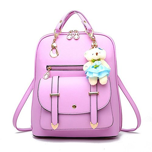 BAG WIZARD Women Fashion Mini Backpack Purse Cute Quilted Leather Black Back Pack Purses for - With Cute Girls