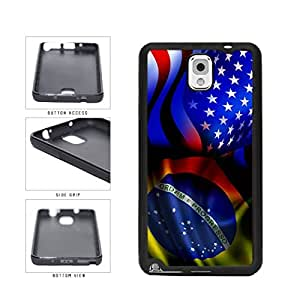 Brazil and USA Mixed Flag TPU RUBBER SILICONE Phone Case Back Cover Samsung Galaxy Note III 3 N9002