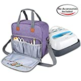 Luxja Carrying Case for Cricut Easy Press, Tote Bag for Cricut Easy Press and Supplies (No Accessories Included), Purple