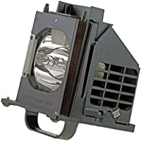 AuraBeam Professional Replacement Projector Lamp with Housing for Mitsubishi 915B403001 TV Lamp (Powered by Philips).