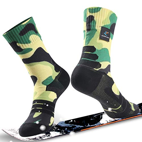 Gift Socks, RANDY SUN Unisex Coolmax Cycling Running Trekking Canyoneering Socks, 1 Pair-Camouflage Green Printing Medium ()