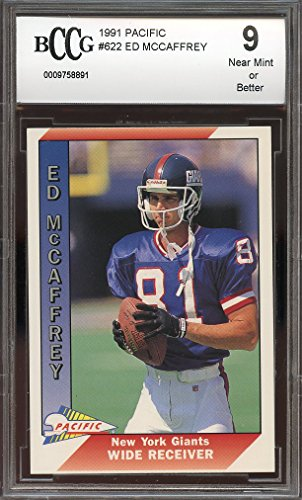 1991 pacific #622 ED MCCAFFREY denver broncos rookie card BGS BCCG 9 Graded Card