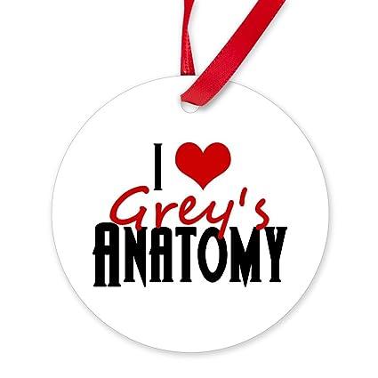 Amazon Cafepress I Love Greys Anatomy Round Christmas
