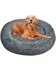 Mysig Anti Ångest Beds Calming Tvättbar Pet Bed Round Plush Cat Dog Bed, Pet Donut Warm Cuddler Kennel Soft Puppy Soffa, mjuk och fluffig Kitten Kudde Mat för varma Sleeping