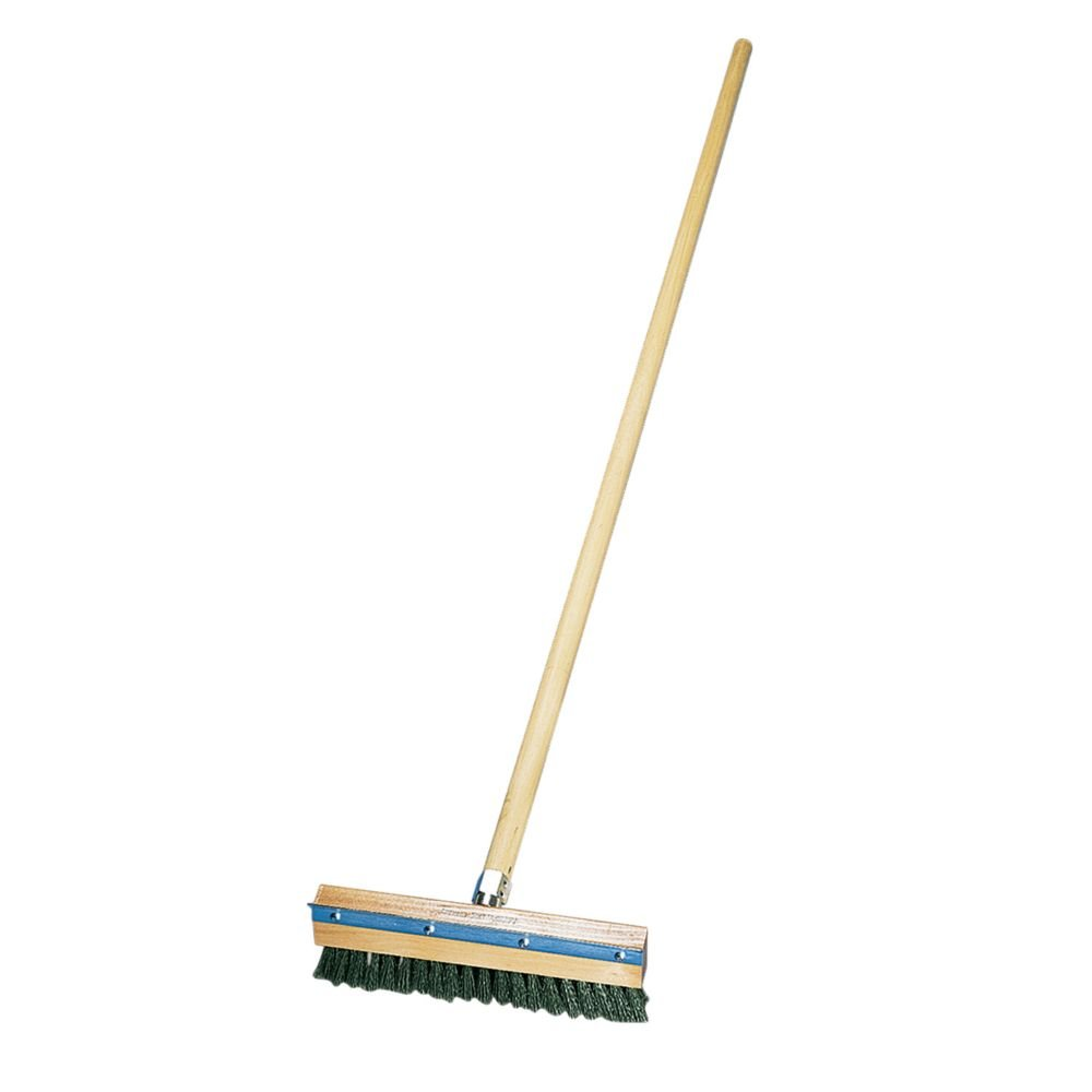 American Metalcraft 1698 Pizza Oven Brush with Brass Bristles and Steel Scraper, Brown, 60-Inch Handle