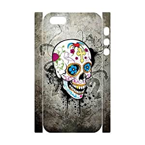 ALICASE Diy Customized Case Skull 3D Case for iPhone 5,5S [Pattern-1]