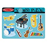 Melissa & Doug Musical Instruments Sound Puzzle - Wooden Peg Puzzle (8 pcs)