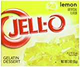 Jell-O Gelatin Dessert, Lemon, 3-Ounce Boxes (Pack of 24)