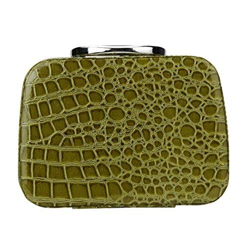 [Hatop Fashion Makeup Storage Bag Case Jewelry Box Leather Travel Cosmetic Organizer (Green)] (Replica Makeup)