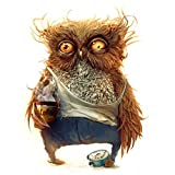 TiTCool Painting by 5D Diamond Number Kits, Cool Owl Holding Coffee 25X30cm Full Drill DIY Arts Craft Paint Diamond Embroidery New Wall Decor