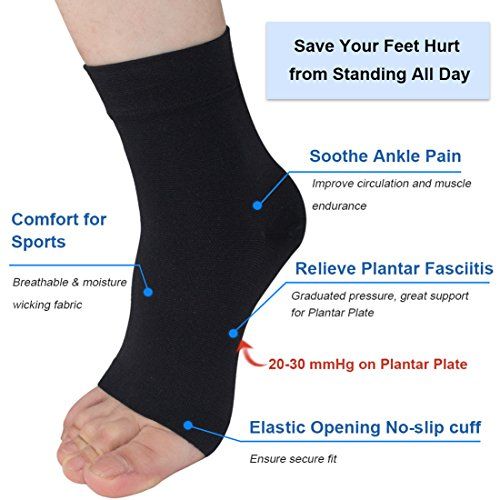 Ailaka Medical 20-30 mmHg Plantar Fasciitis Socks for Men & Women, Heel Arch Ankle Support Compression Foot Sleeves, Great Foot Care for Pain Relief, Swelling, Nurses, Maternity, Pregnancy, Running by Ailaka (Image #2)