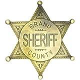 Estrella de Sheriff Grand County - placa cowboy