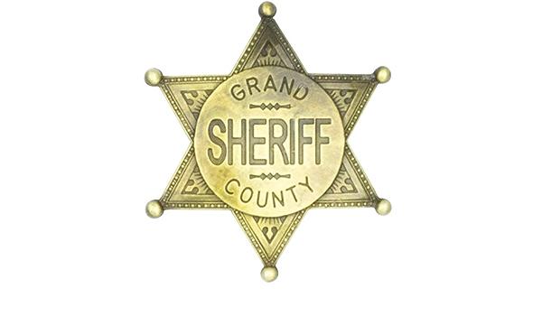 Sheriff estrella marca oro nuevo-accesorios accesorio carnaval carnaval