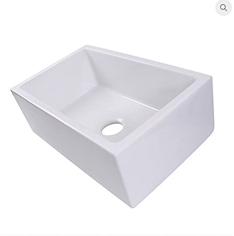 Highpoint Collection HP FC30 Italian Fireclay 30 Inch Single Bowl Farmhouse  Pre Assembled
