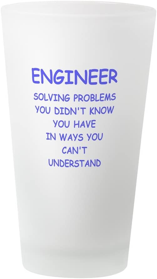 16 oz Drinking Glass CafePress Engineer Funny Definition Pint Glass