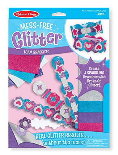 Melissa & Doug Mess-Free Glitter Foam Bracelets Craft Kit (Makes 4 Bracelets) Melissa & Doug Butterfly Jewelry